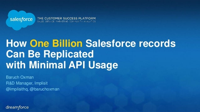Replicating One Billion Records with Minimal API Usage