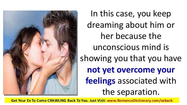 Dream about seeing your ex-boyfriend