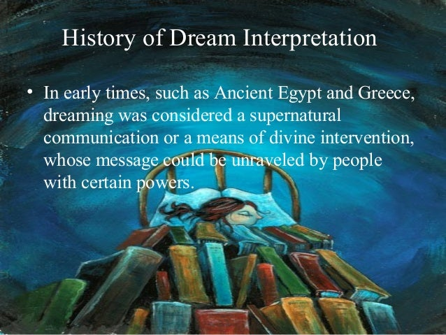 an interpretation of a dream Meaning of dreams, dreams interpretations, different types of dreams - imagine if the dream you had last night, contained the answer that you had been.