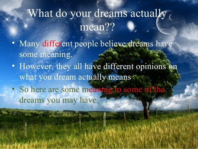 do dreams have meaning