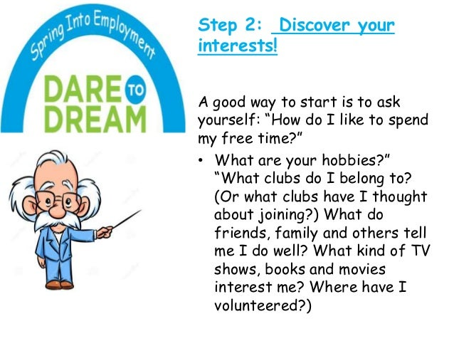 8 step 2 discover your - Your Dream Job Tell Me About Your Dream Job
