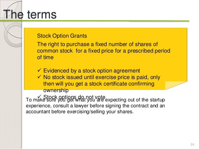 Stock options before a company goes public