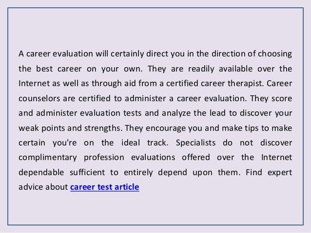 job career test