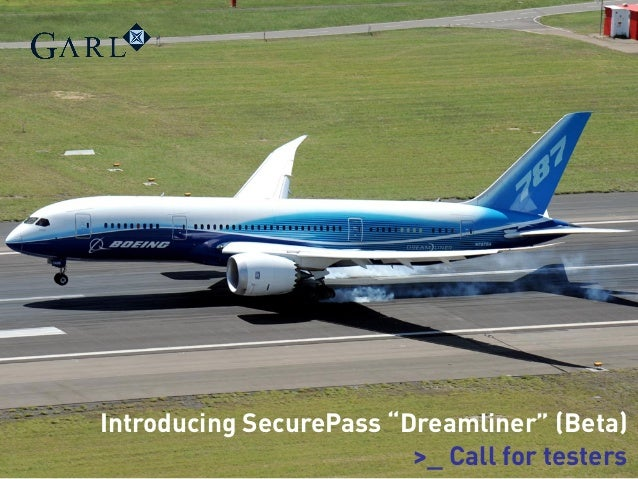 """Introducing SecurePass """"Dreamliner"""" (Beta) >_ Call for testers"""