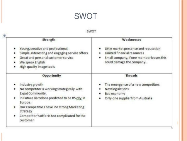 swot analysis of consulting company