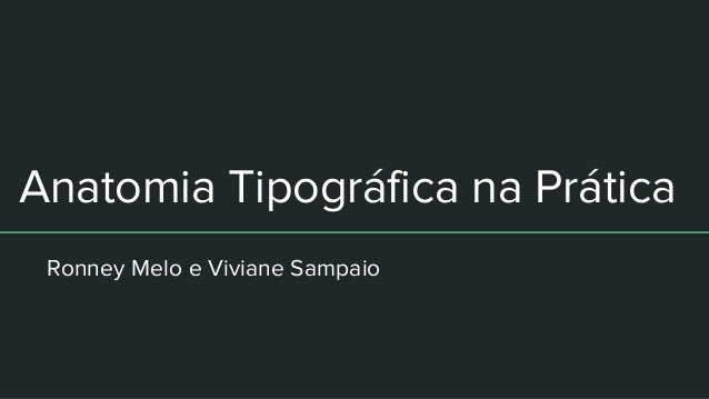 Anatomia Tipográfica na Prática Ronney Melo e Viviane Sampaio