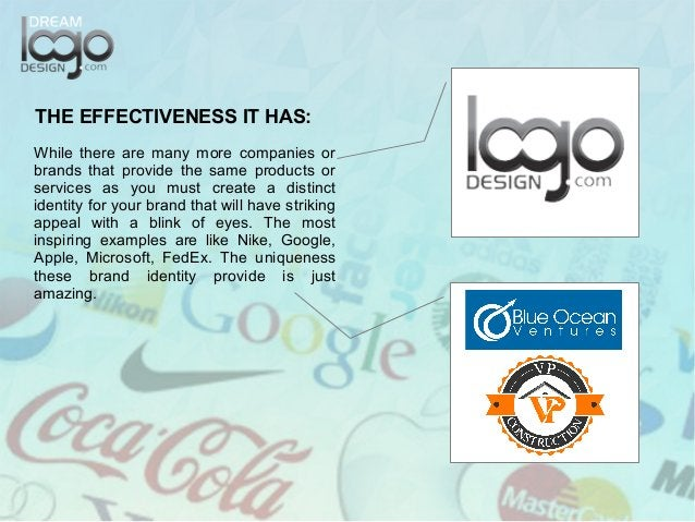 THE EFFECTIVENESS IT HAS: While there are many more companies or brands that provide the same products or services as you ...