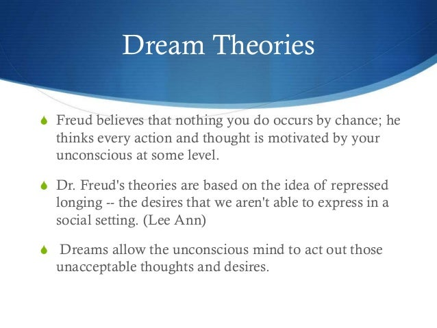 dream theories The biology of dreaming: maurice isn't convinced by currently accepted theories about the reason that dream content often seems disoriented or bizarre is.