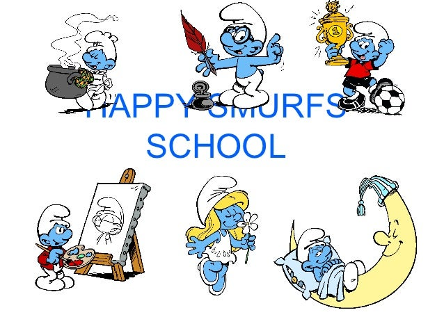 HAPPY SMURFS   SCHOOL