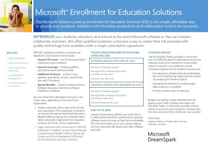 Microsoft Enrollment for Education Solutions                                                        ®                     ...