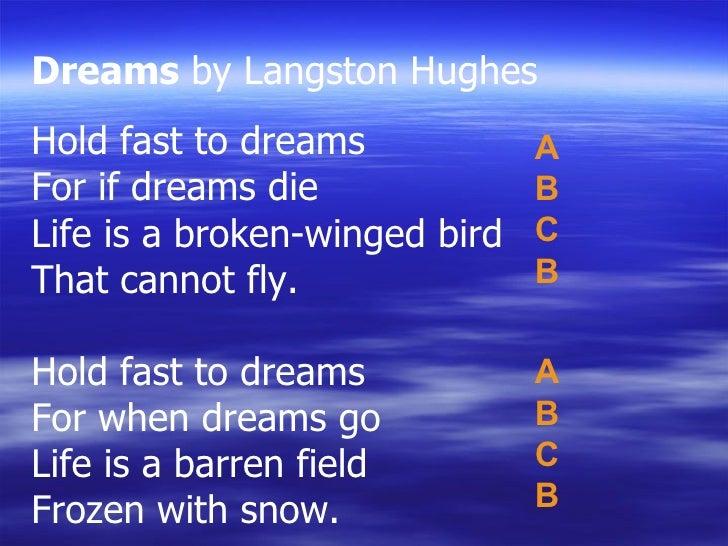Dreams Poem & Rhyme Scheme