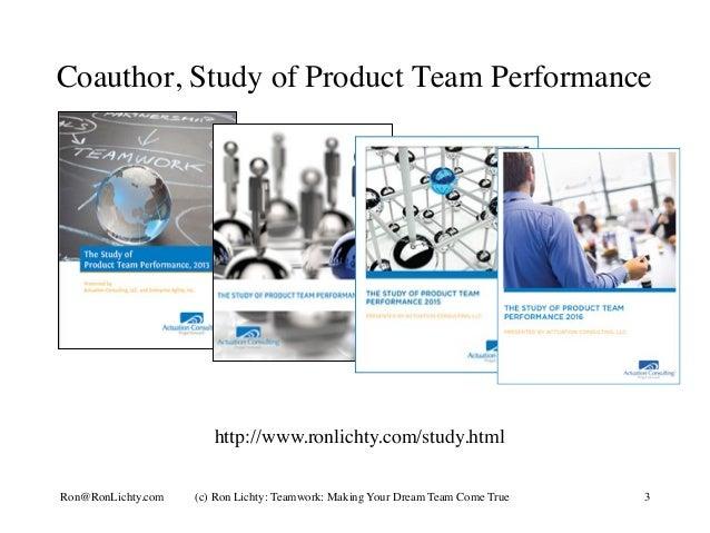 Dream teams - making your dream (team) come true Slide 3