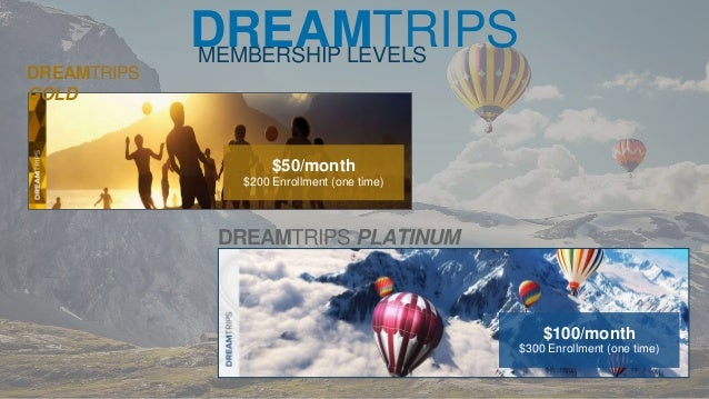 225DREAMTRIPS POINTS 14 MEMBERSHIP LEVELS DREAMTRIPS GOLD