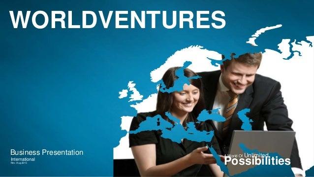 Worldventures International Travel Business Presentation