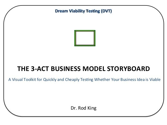 THE	   3-­‐ACT	   BUSINESS	   MODEL	   STORYBOARD	    	   A	   Visual	   Toolkit	   f...