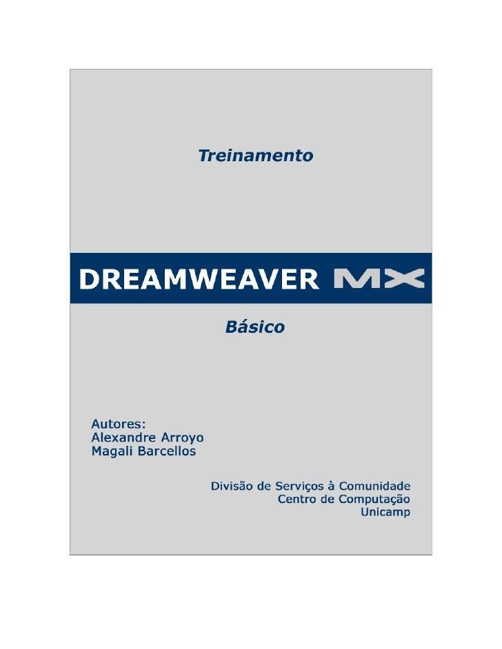 Dreamweaver MX – Básico                                       Licenciamento de Uso   Este documento é propriedade intelect...