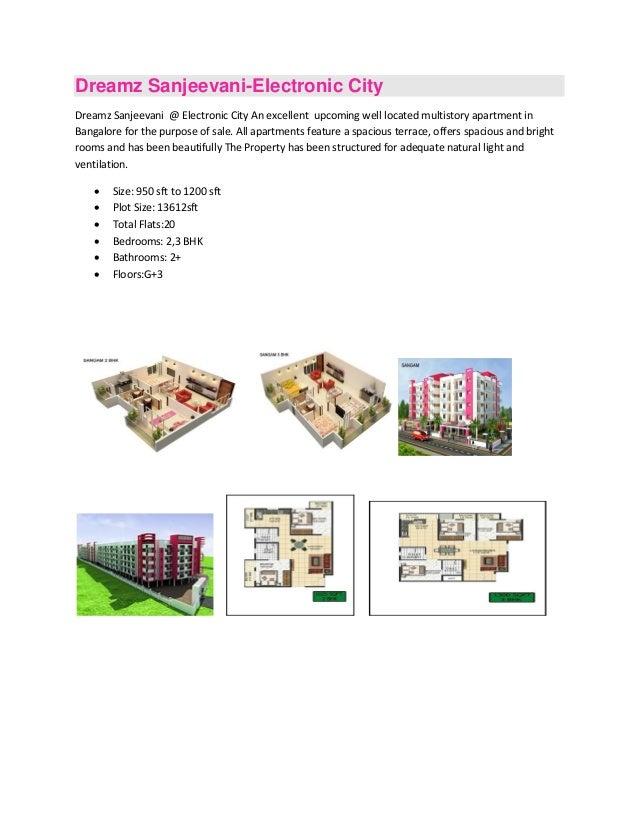 Dreamz Sanjeevani-Electronic CityDreamz Sanjeevani @ Electronic City An excellent upcoming well located multistory apartme...