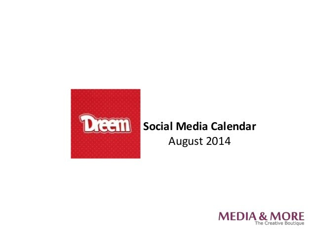Social Media Calendar August 2014