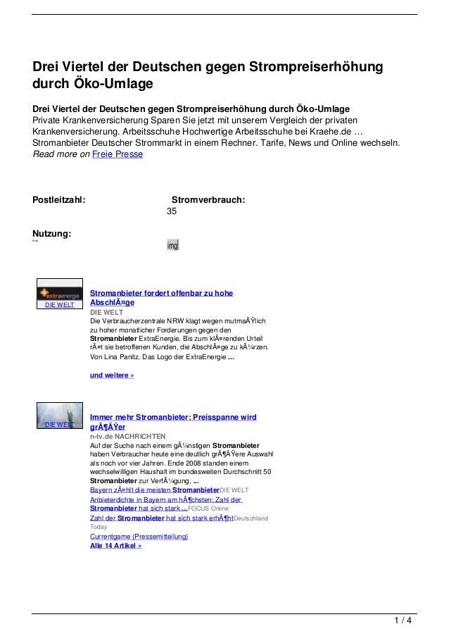 Drei Viertel der Deutschen gegen Strompreiserhöhungdurch Öko-UmlageDrei Viertel der Deutschen gegen Strompreiserhöhung dur...