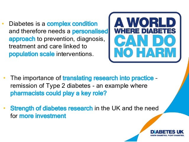 """'Overcoming diabetes' Professor David Taylor """"if governments, health care providers and the wider public maintain the conf..."""