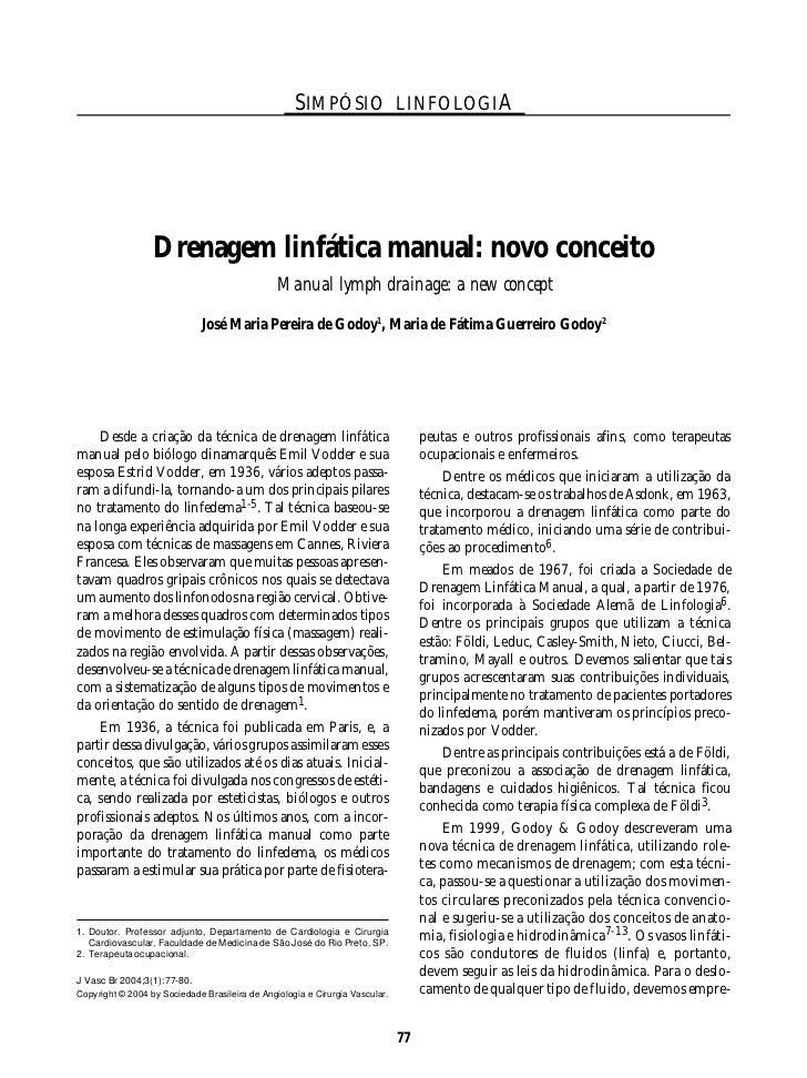 SIMPÓSIO LINFOLOGIA                  Drenagem linfática manual: novo conceito                                             ...