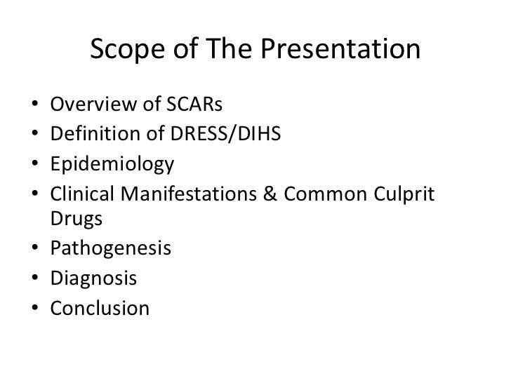 Drug Reaction With Eosinophilia and Systemic Symptoms (Dress) Slide 2