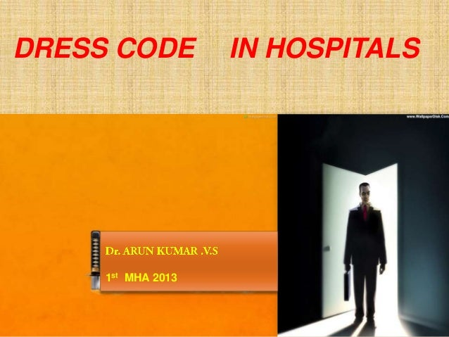 Dress code in hospitals