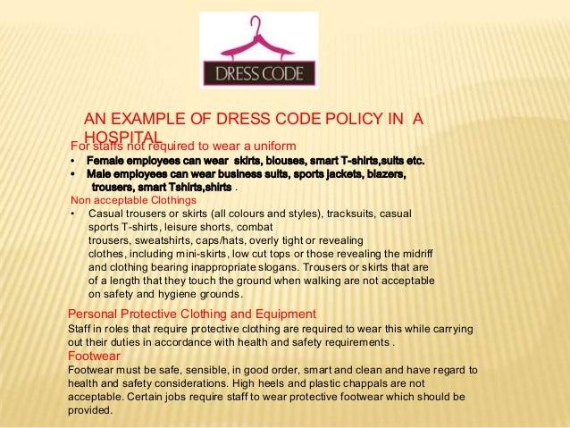 Dress code in hospitals