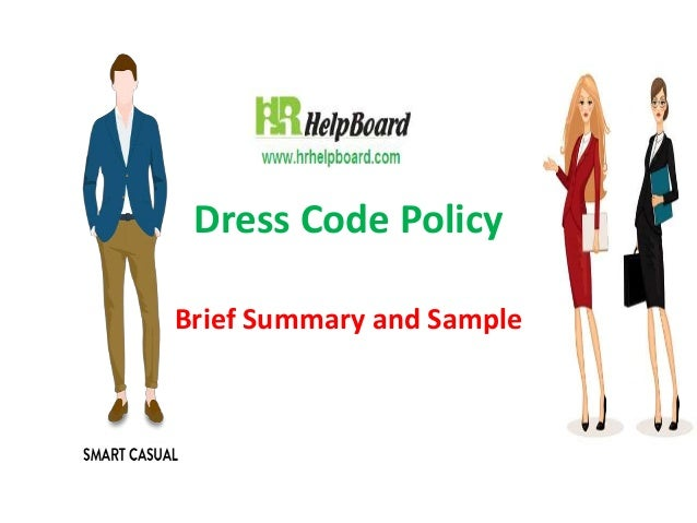 Dressing Policy And Procedure Of Company