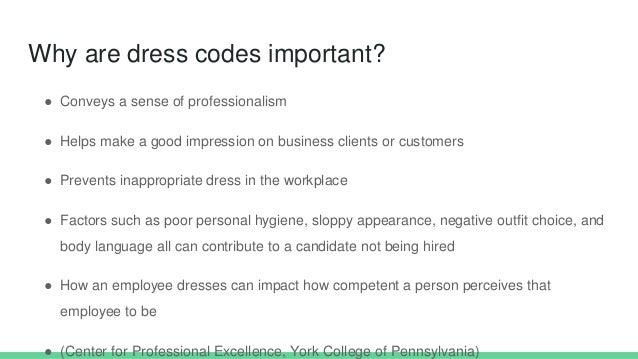 Dress Code Presentation