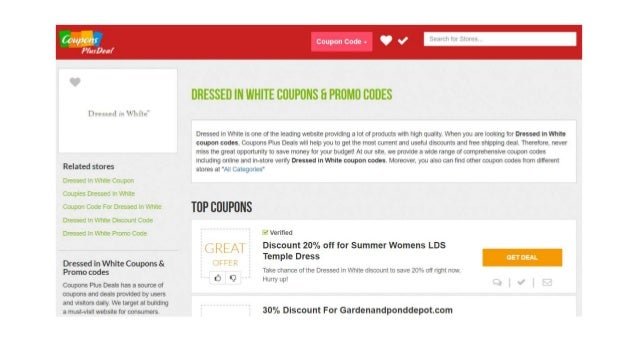 Dressed in White Coupon Codes