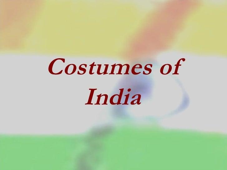 Costumes of India