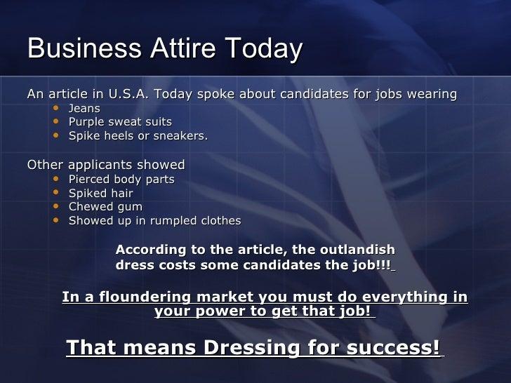 Dress for interview success Slide 2
