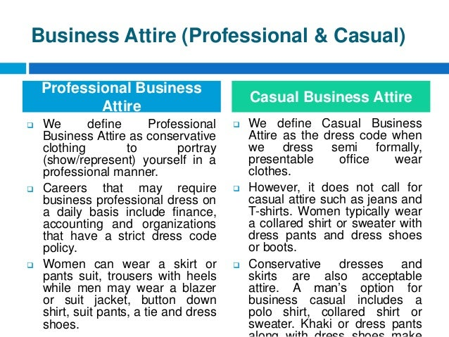 Dress for success dressing skills