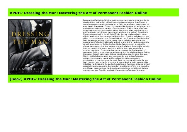 Pdf Dressing The Man Mastering The Art Of Permanent Fashion Online