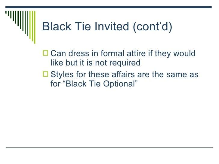 Dressing etiquette 10 black tie invited stopboris Images