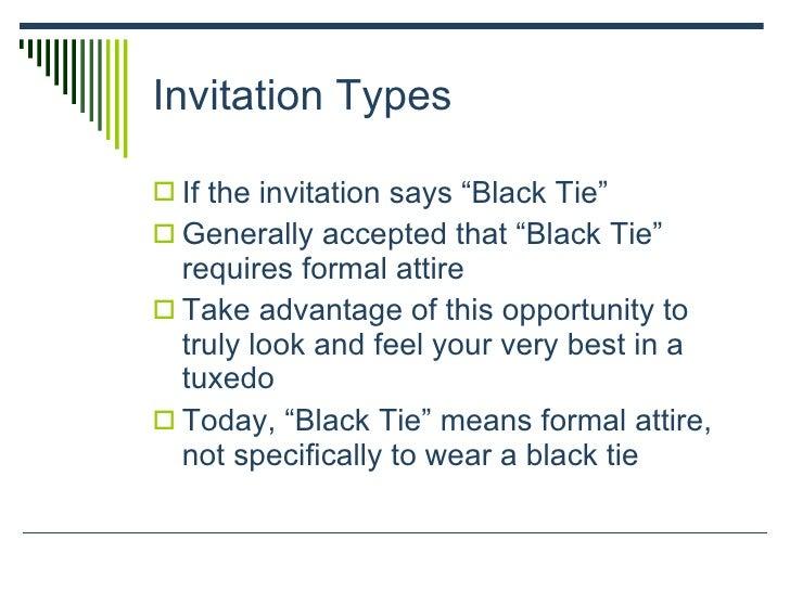 Dressing etiquette invitation stopboris Images