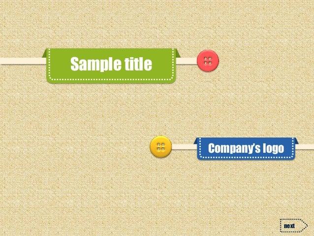 Sample title  Company's logo  next