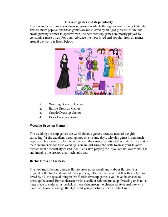 Dress Up Games And Its Popularity