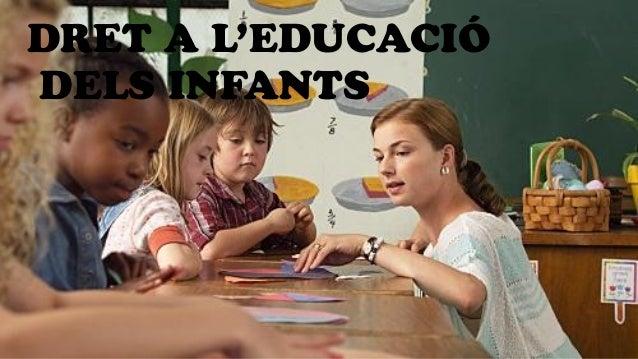 DRET A L'EDUCACIÓ DELS INFANTS