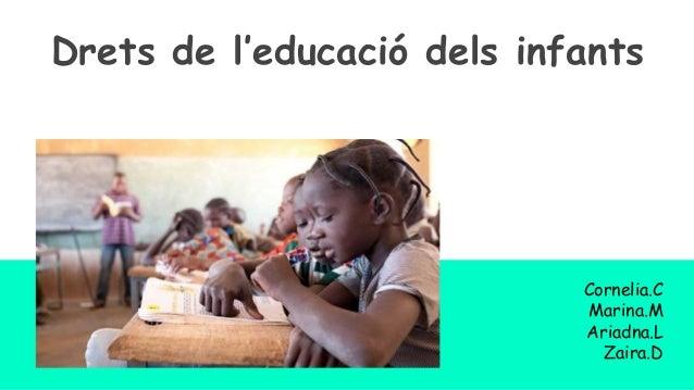 Drets de l'educació dels infants Cornelia.C Marina.M Ariadna.L Zaira.D