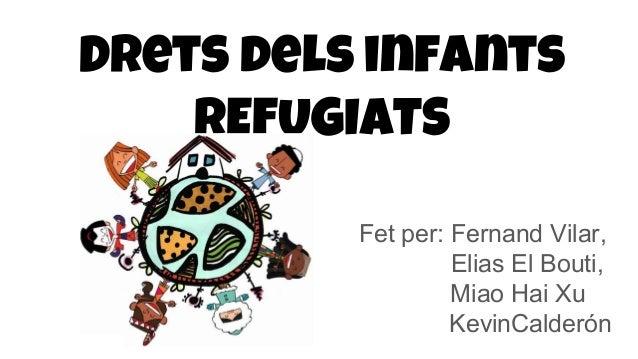 Drets dels infants REFUGIATS Fet per: Fernand Vilar, Elias El Bouti, Miao Hai Xu KevinCalderón
