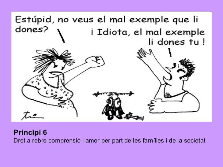 Principi 6   Dret a rebre comprensió i amor per part de les famílies i de la societat