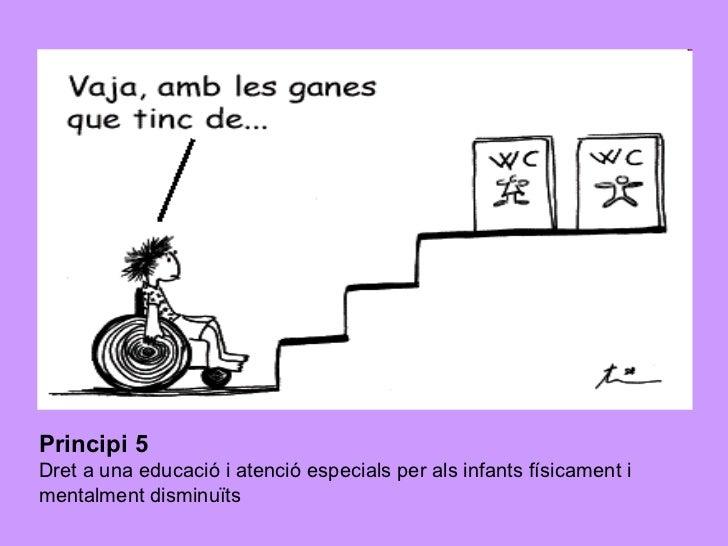 Principi 5   Dret a una educació i atenció especials per als infants físicament i mentalment disminuïts