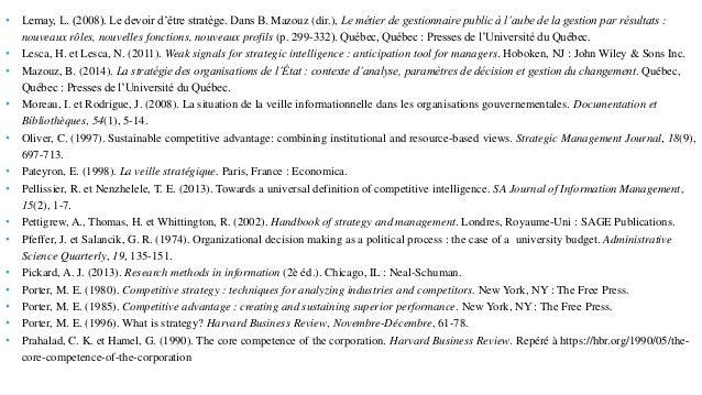 • Lemay, L. (2008). Le devoir d'être stratège. Dans B. Mazouz (dir.), Le métier de gestionnaire public à l'aube de la gest...