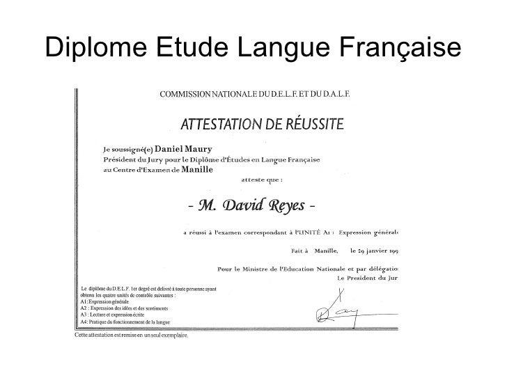 Diplome Etude Langue Française