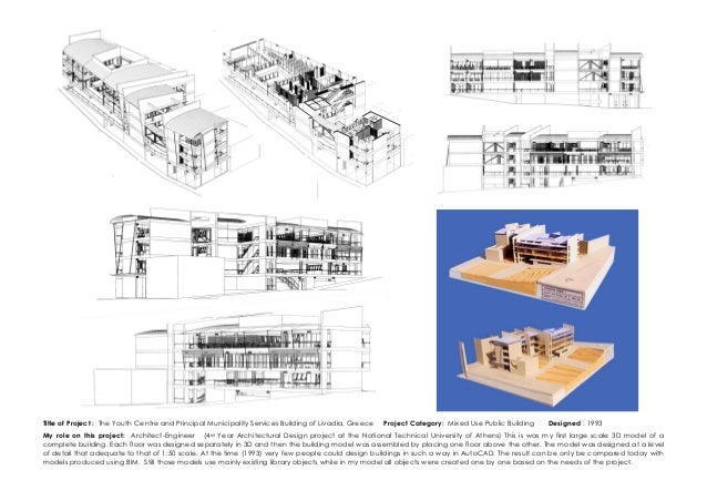Architecture Design Engineer dr faidon nikiforiadis examples of work from design portfolio nove…