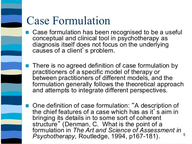 Dr funke 39 s formulation workshop implementing theory into for Case formulation template