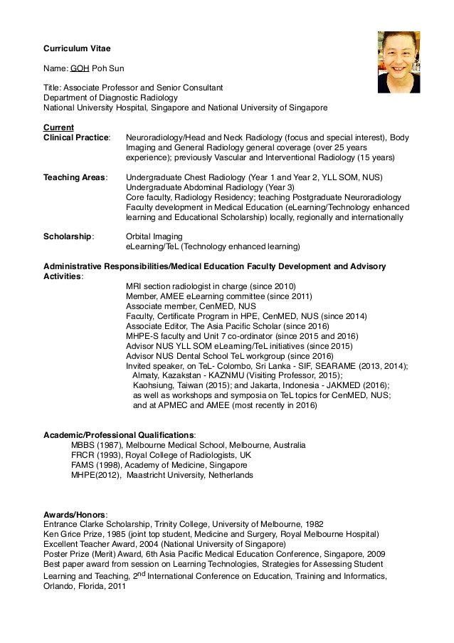 dr-goh-poh-sun-short-cv-pdf-1-638 Sample Curriculum Vitae Professor on for university, college adjunct, physical therapy, ethnic studies, laban ayiro, lucas ogunlade, template law school, for inexperienced adjunct, for radiology tech,