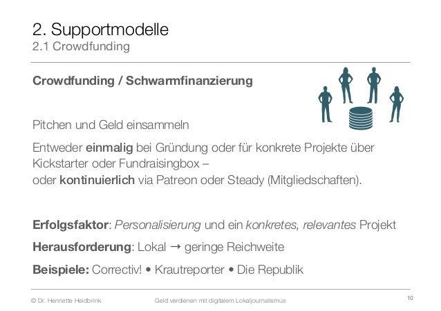 Geld Verdienen Mit Digitalem Lokaljournalismus